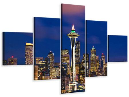 Leinwandbild 5-teilig Skyline Seattle