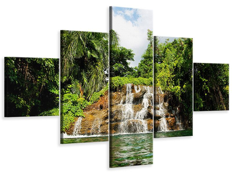 Leinwandbild 5-teilig Lagune