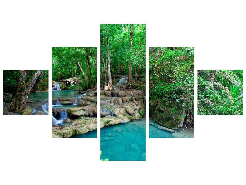 Leinwandbild 5-teilig Am Fusse von Erawan