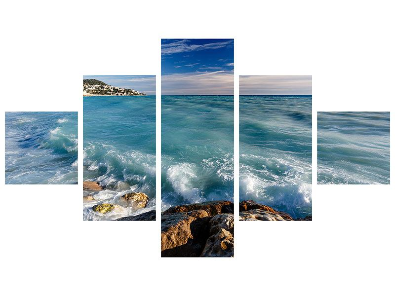 Leinwandbild 5-teilig Cote D`Azur