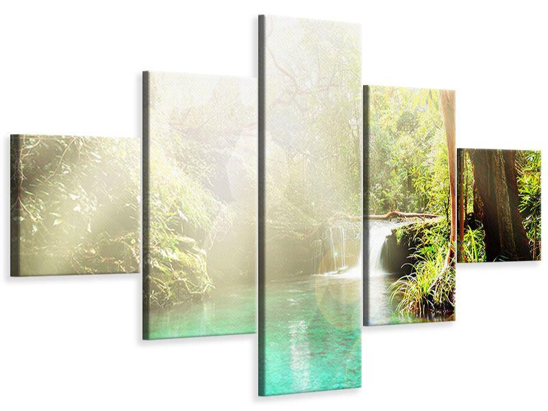 Leinwandbild 5-teilig Die grüne Lagune