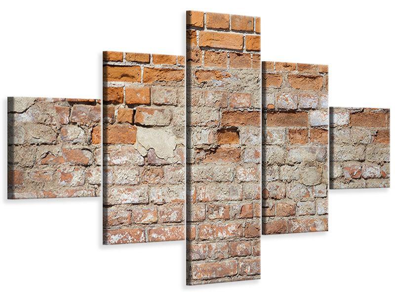 Leinwandbild 5-teilig Alte Klagemauer