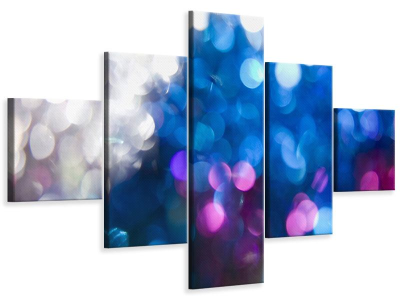 Leinwandbild 5-teilig Abstraktes Licht
