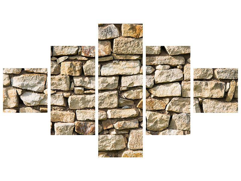 Leinwandbild 5-teilig Natursteine