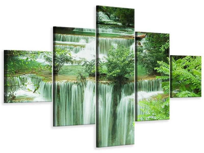 Leinwandbild 5-teilig 7 Stufen in Thailand