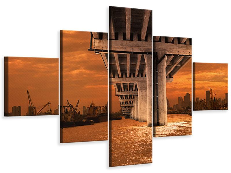 Leinwandbild 5-teilig Die Brücke