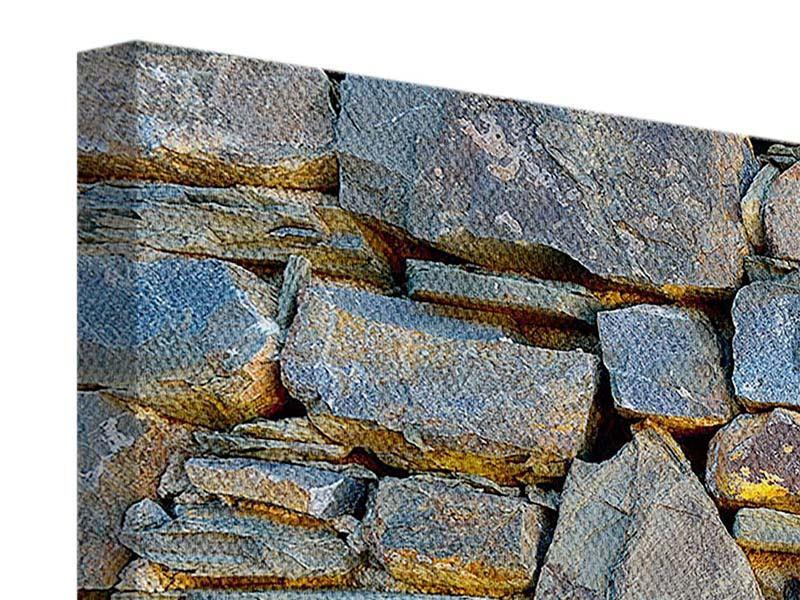 Leinwandbild 5-teilig Natürliche Steinmauer