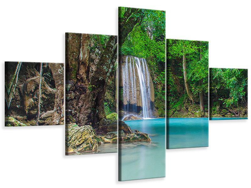 Leinwandbild 5-teilig Fliessgewässer