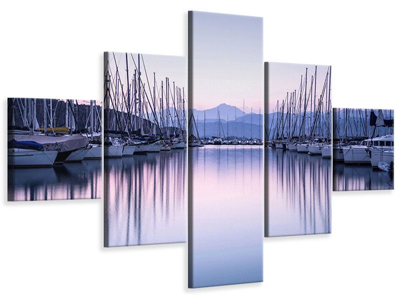 Leinwandbild 5-teilig Yachthafen