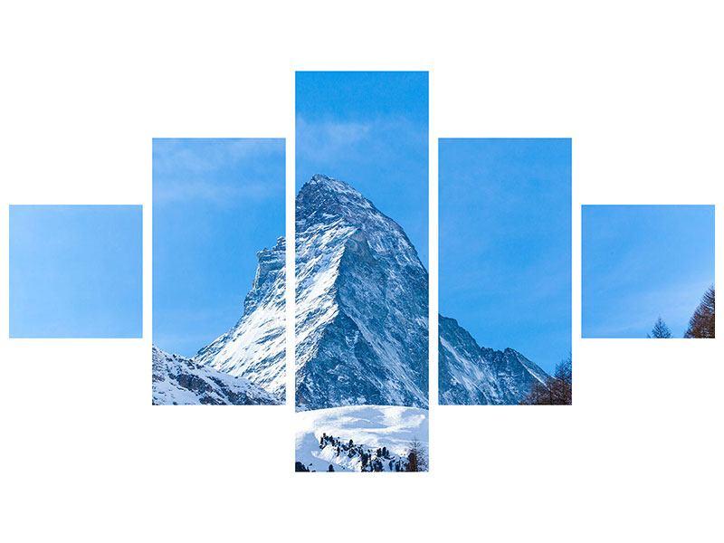 Leinwandbild 5-teilig Das majestätische Matterhorn