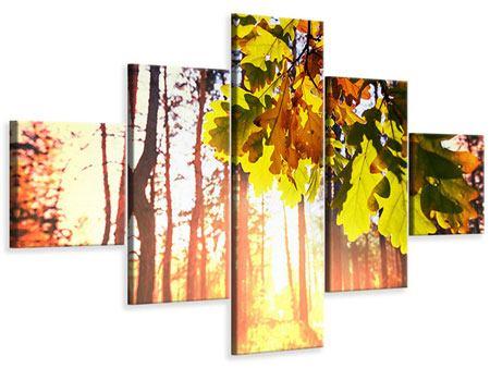 Leinwandbild 5-teilig Herbst