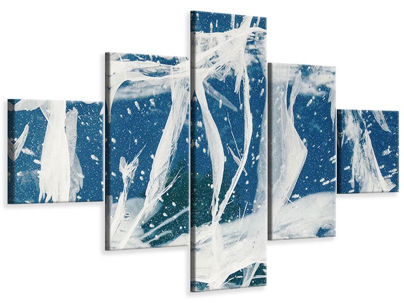 Leinwandbild 5-teilig Eiskristalle