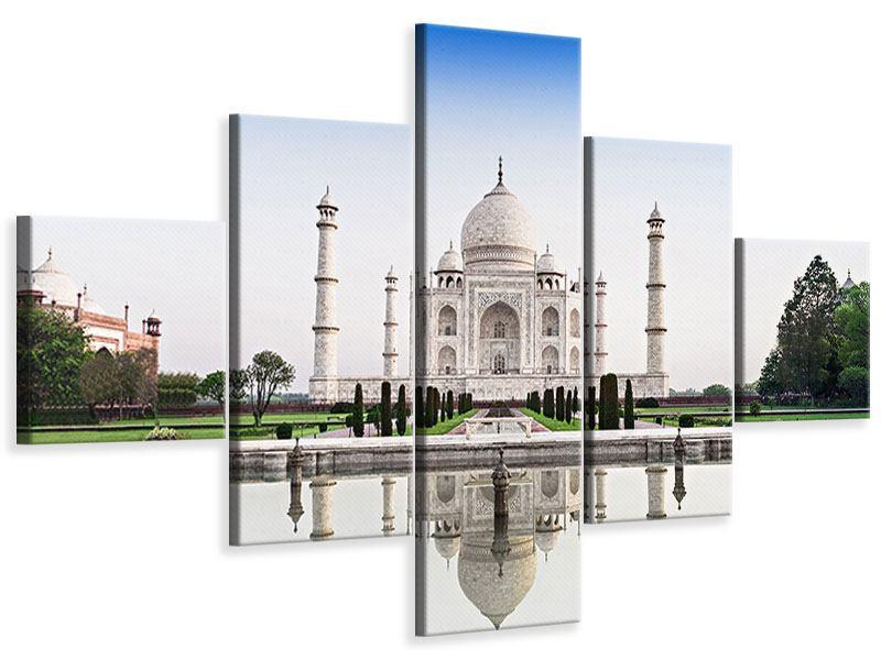 Leinwandbild 5-teilig Taj Mahal