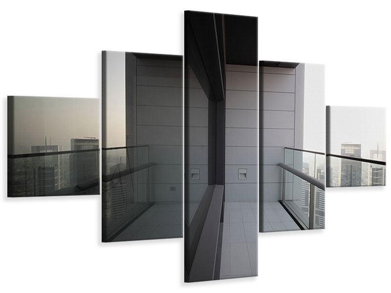 Leinwandbild 5-teilig Balkon in Dubai