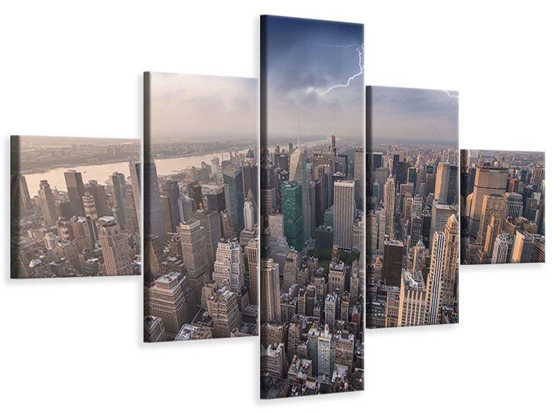 Leinwandbild 5-teilig Manhattan