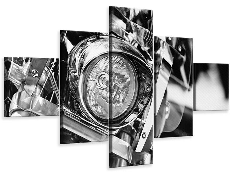 Leinwandbild 5-teilig Motorrad Close Up