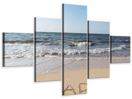 Leinwandbild 5-teilig Sandspuren