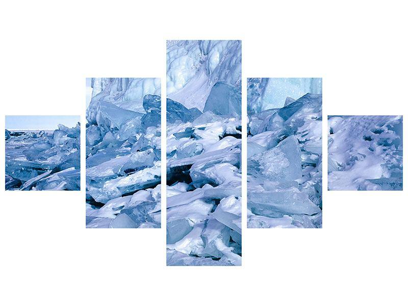 Leinwandbild 5-teilig Eislandschaft Baikalsee
