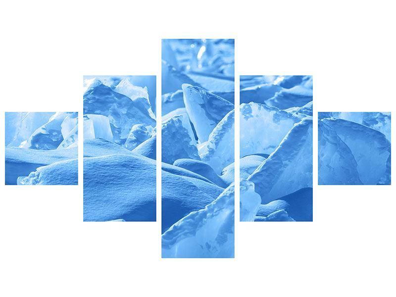 Leinwandbild 5-teilig Eis des Baikalsees