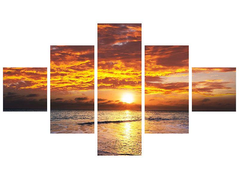 Leinwandbild 5-teilig Entspannung am Meer