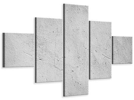 Leinwandbild 5-teilig Beton