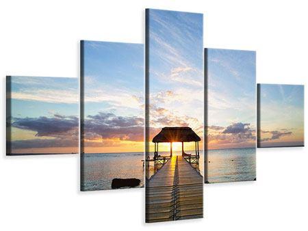 Leinwandbild 5-teilig Romantik auf Mauritius