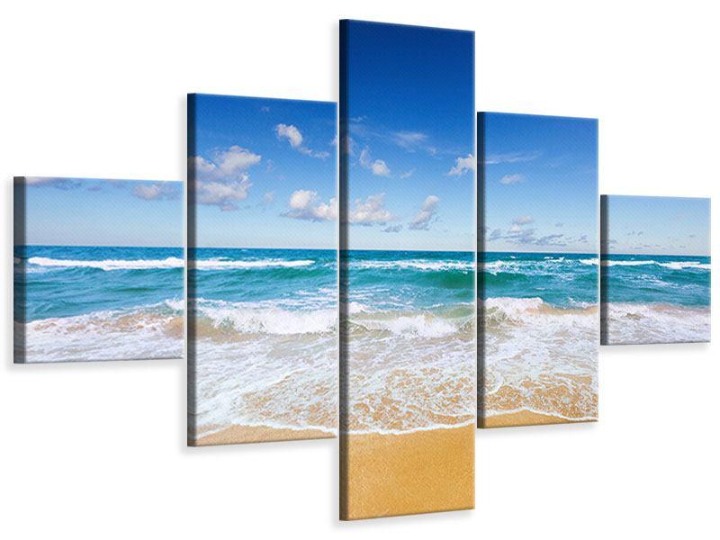Leinwandbild 5-teilig Die Gezeiten und das Meer