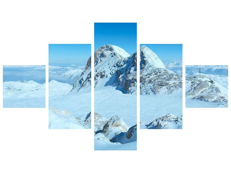 Leinwandbild 5-teilig Über den Wolken