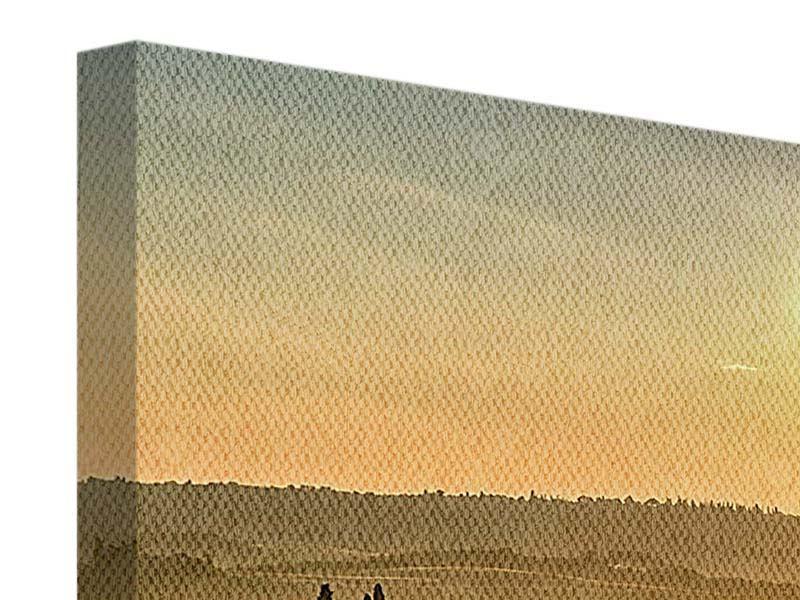 Leinwandbild 5-teilig Sonnenuntergang im Gebirge