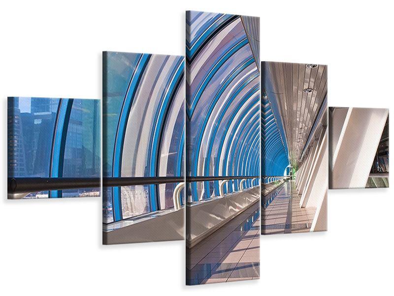 Leinwandbild 5-teilig Hypermoderne Brücke