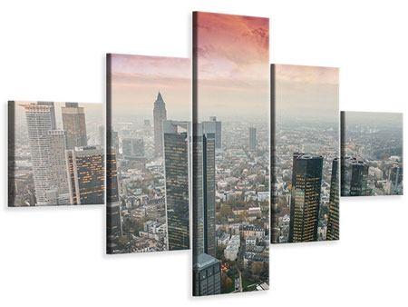 Leinwandbild 5-teilig Skyline Penthouse in New York