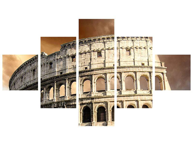 Leinwandbild 5-teilig Kolosseum Rom