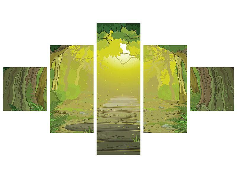 Leinwandbild 5-teilig Der Märchenwald