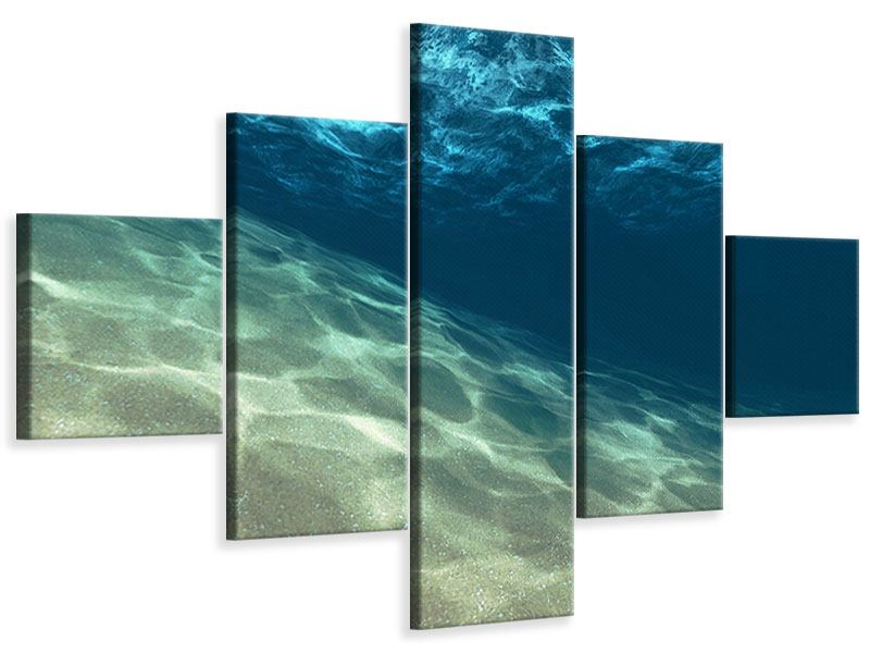 Leinwandbild 5-teilig Unter dem Wasser