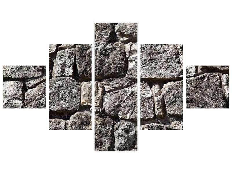 Leinwandbild 5-teilig Grosses Mauerwerk