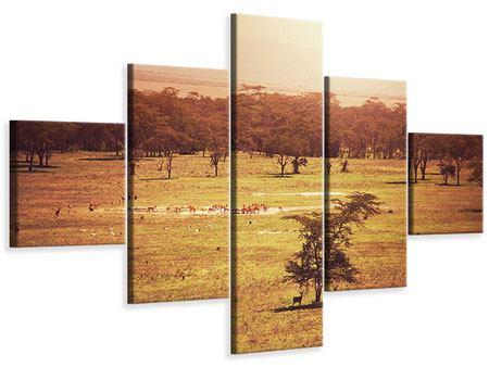 Leinwandbild 5-teilig Malerisches Afrika