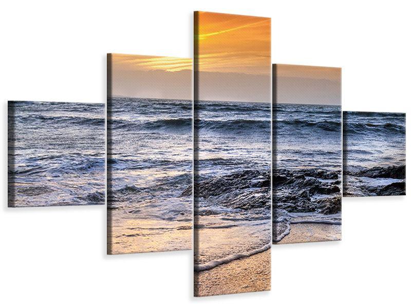Leinwandbild 5-teilig Das Meer