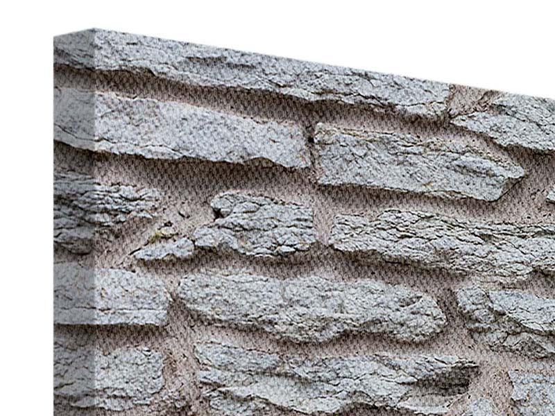 Leinwandbild 5-teilig modern Steinmauer