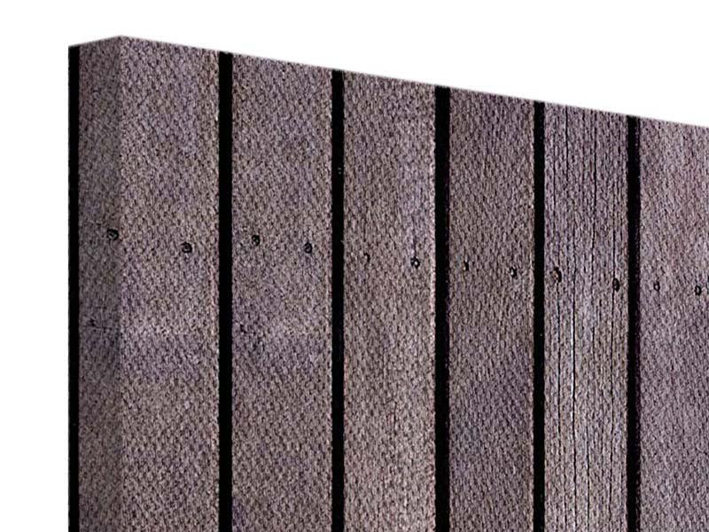 Leinwandbild 5-teilig modern Holzwand