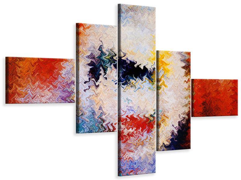 Leinwandbild 5-teilig modern Wandmalerei
