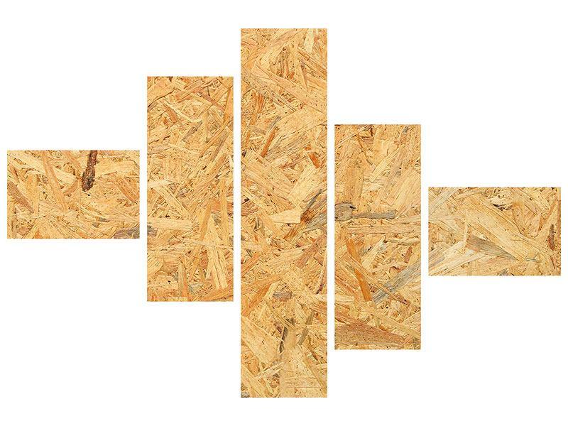 Leinwandbild 5-teilig modern Gepresstes Holz