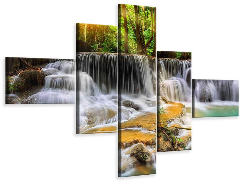 Leinwandbild 5-teilig modern Nationalpark Si Nakharin