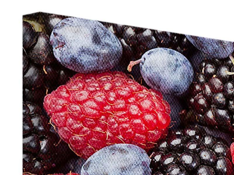Leinwandbild 5-teilig modern Beeren