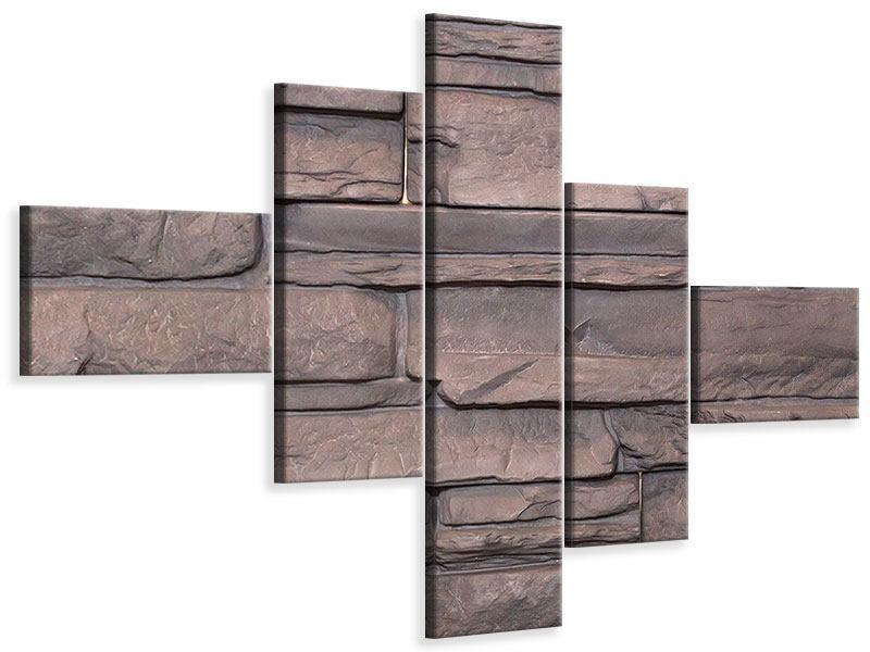 Leinwandbild 5-teilig modern Luxusmauer