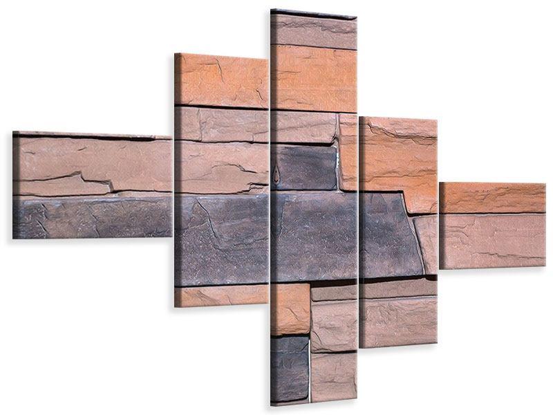 Leinwandbild 5-teilig modern Wall