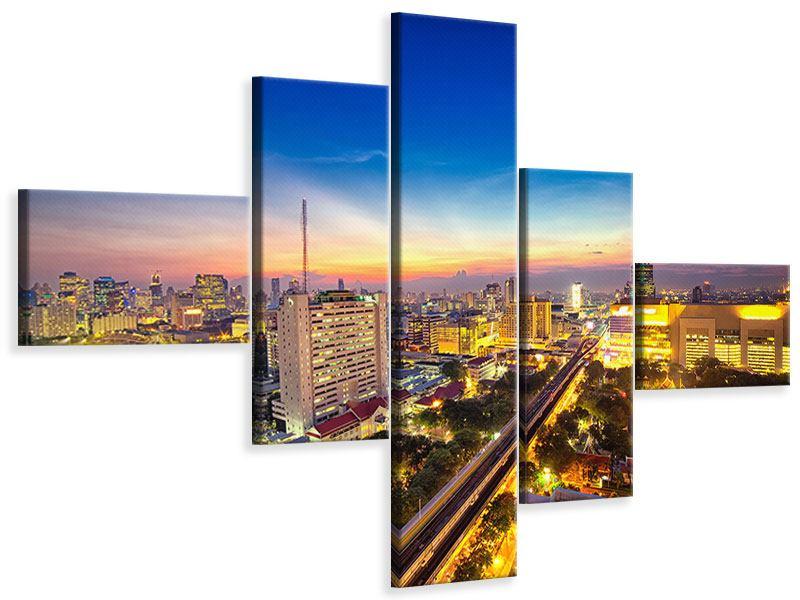 Leinwandbild 5-teilig modern Bangkok