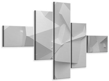 Leinwandbild 5-teilig modern 3D-Raster