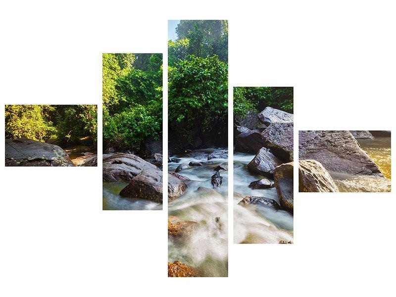 Leinwandbild 5-teilig modern Das Gewässer