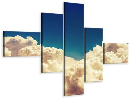 Leinwandbild 5-teilig modern Himmelswolken