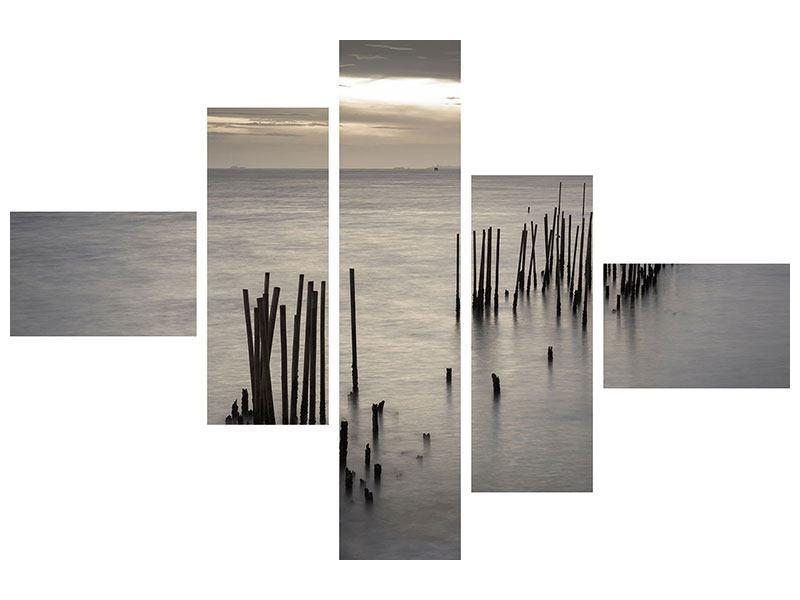 Leinwandbild 5-teilig modern Das Meer und die Träne